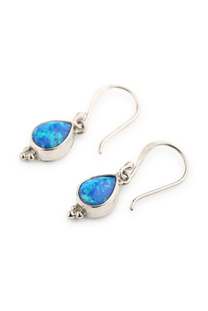 Earrings Dainty Droplet Teardrop Opalite
