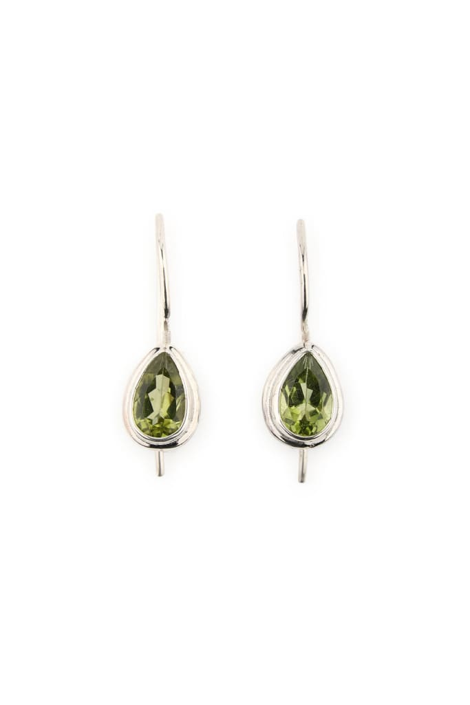 Earrings Teardrop Peridot