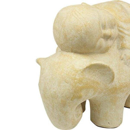 Elephant With Child Ceramic Statue
