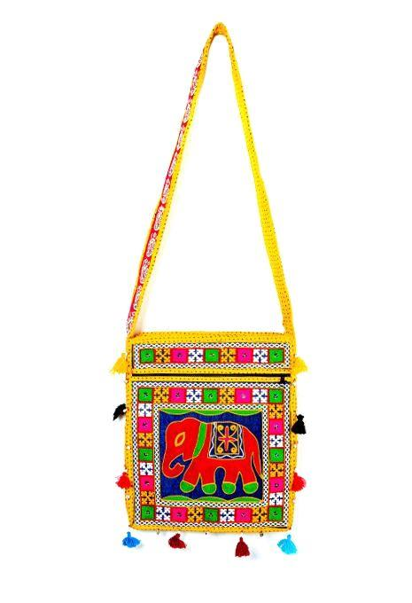 Embroidered Elephant Bag