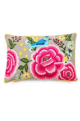 Embroidered Rectangular Cushion