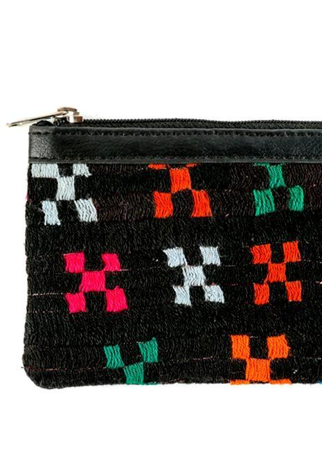 Embroidered Zip Purse