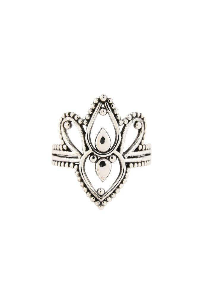 Empress Filigree Silver Ring