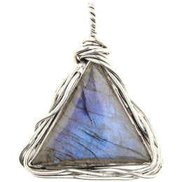 Entwined Labradorite Triangle Pendant