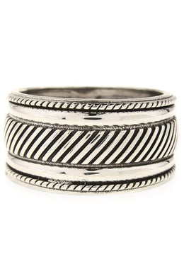 Etched Rope Ring