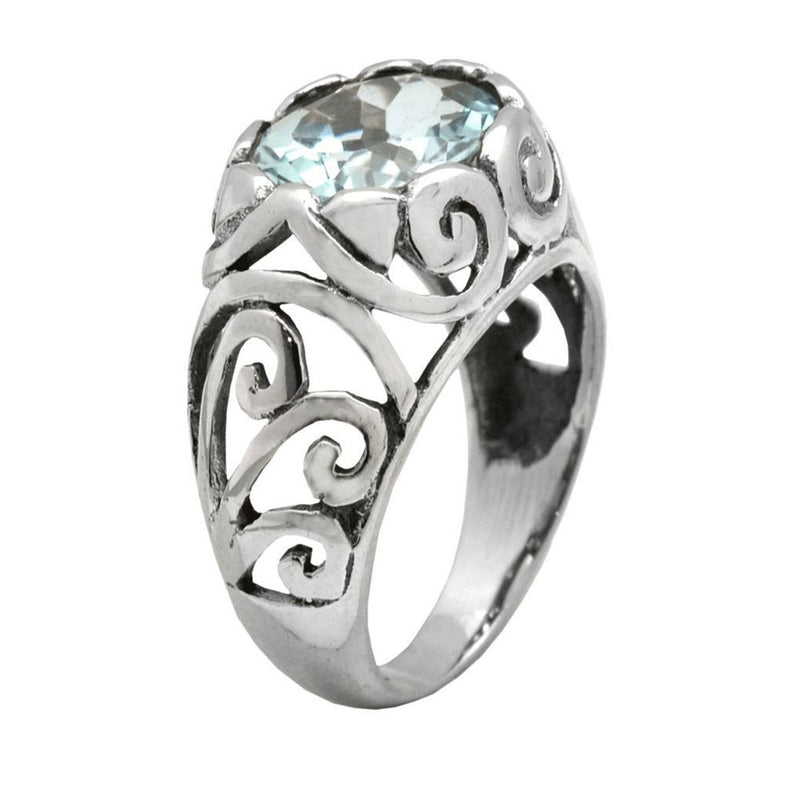 Facet & Filigree Ring