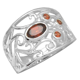 Filigree Garnet Ring