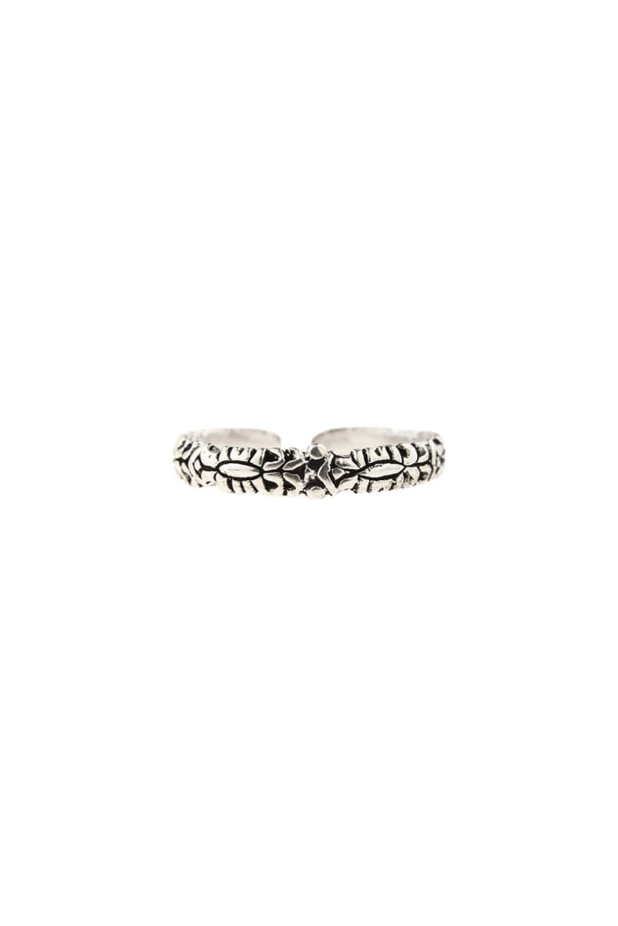 Fine Detailed Silver Toe Ring