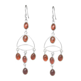 Fine Drops Garnet Earrings