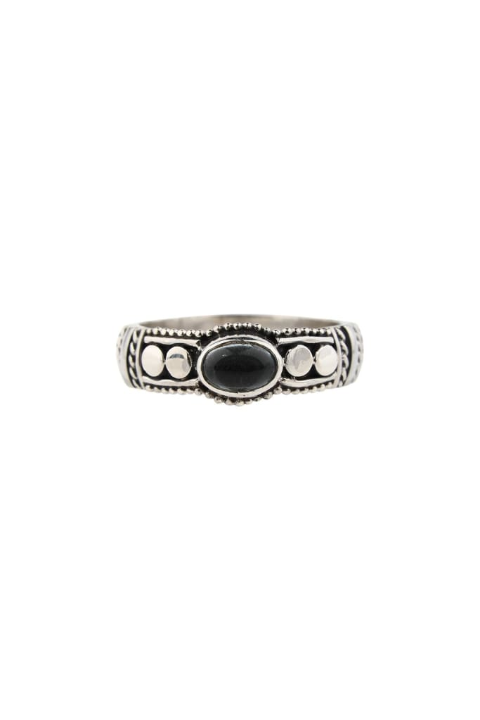 Fine Kali Dot Blue Topaz Silver Ring
