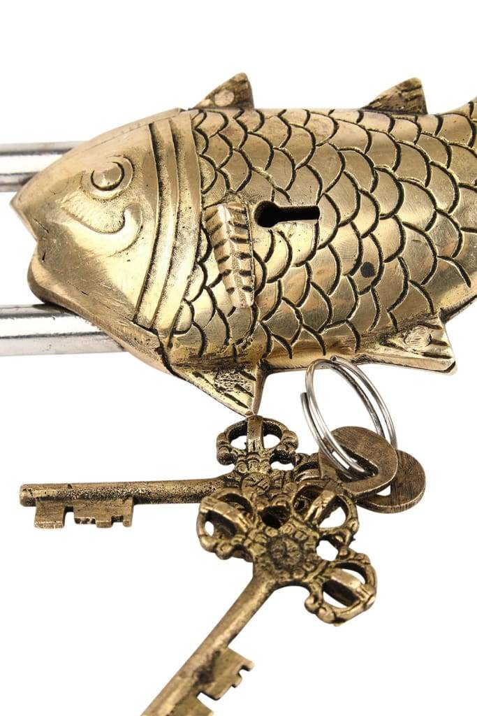 Fish Brass Lock And Key