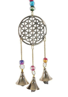 Flower Of Life Brass Bells