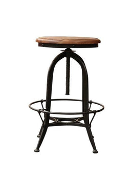 French Iron Round Stool