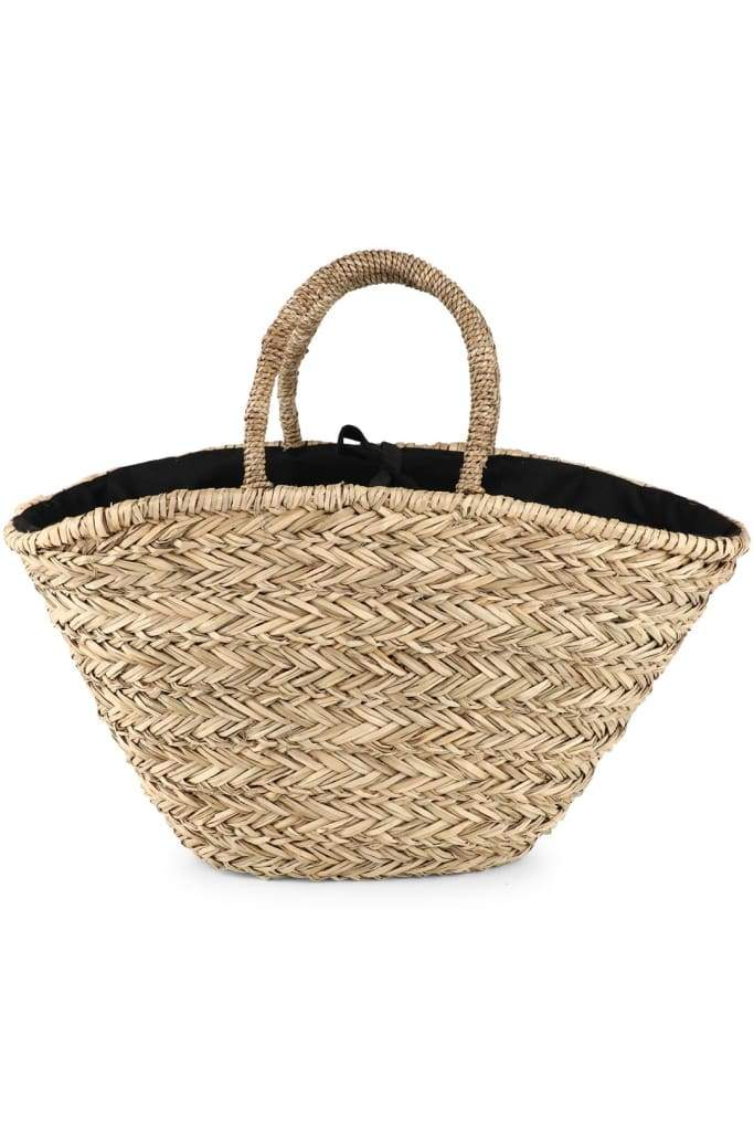 Geo Tassel Sea Straw Beach Bag