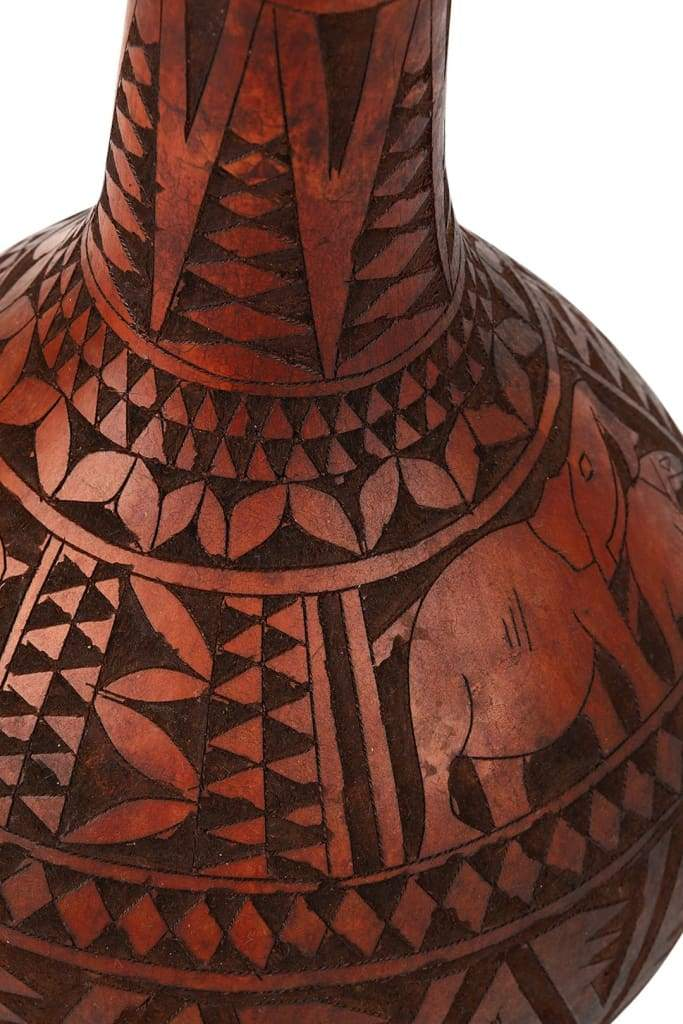 Geometric Carved Gourds