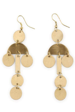 Geometric Layered Dangly Earrings
