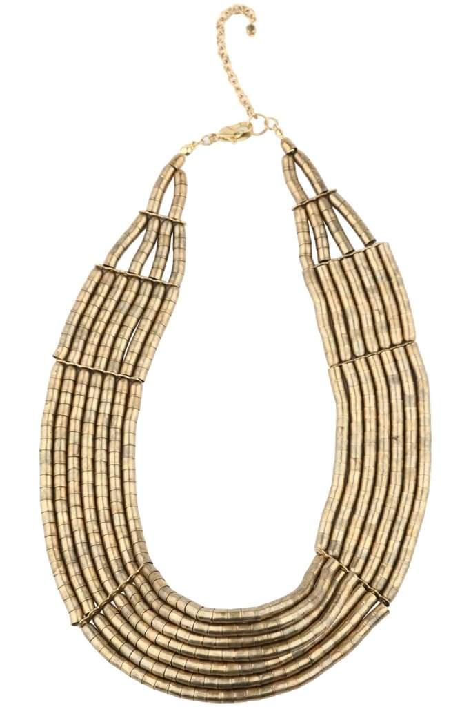 Gold Cleopatra Layered Necklace