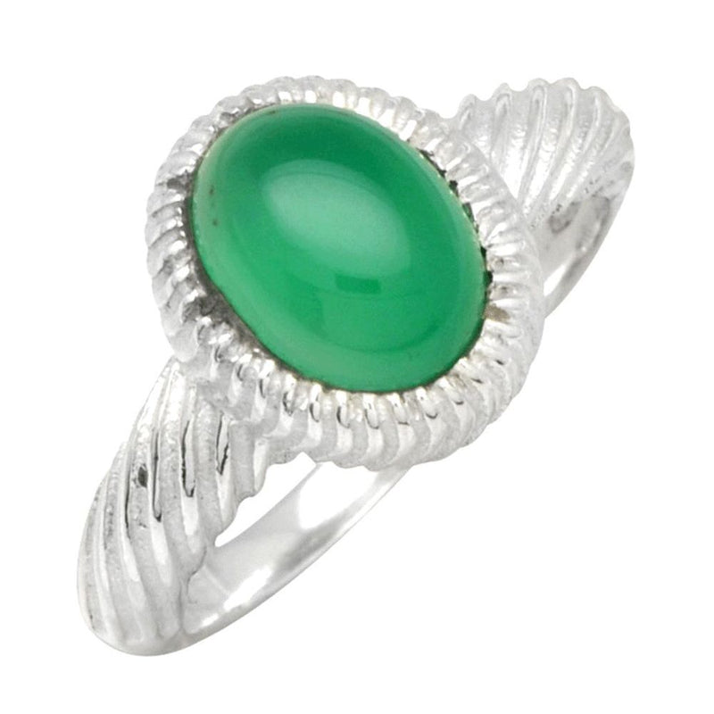 Green Onyx Twisted Band Ring