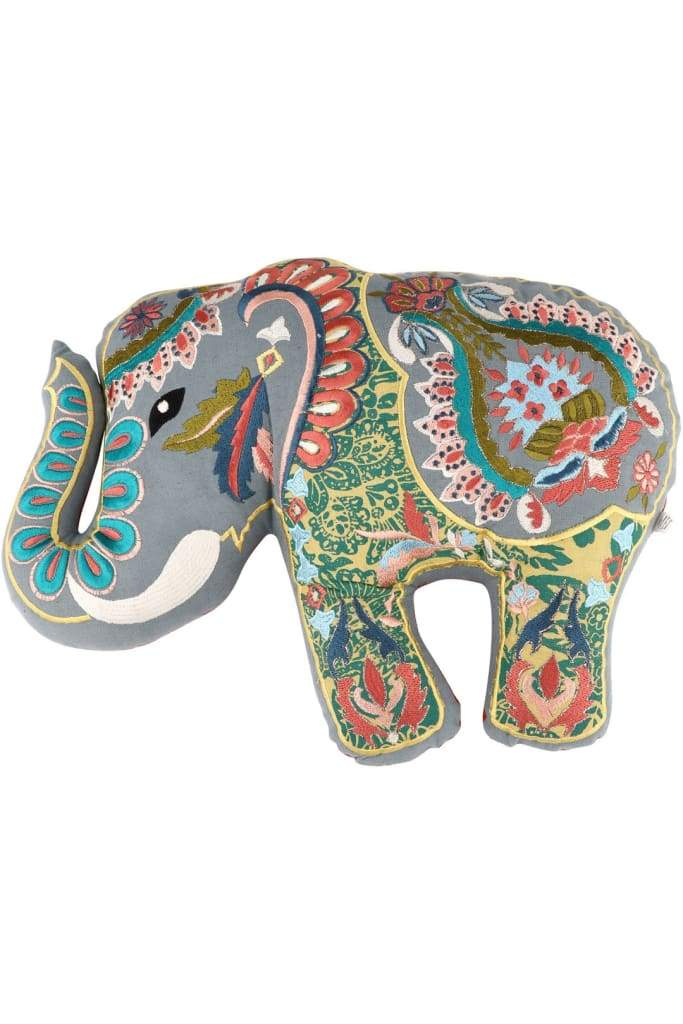 Grey Elephant Shape Cushion