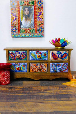 Handpainted Ceramic Drawers