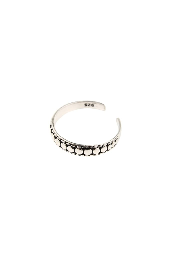 High Shine Dots Silver Toe Ring