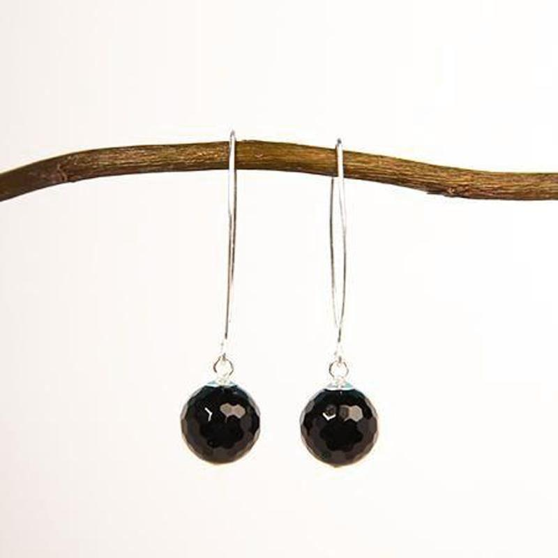 Hook Onyx Earrings