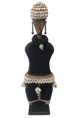 Beaded Ndamji Doll Wide Black