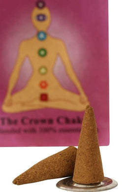 Incense Cones Seven Chakras 9X6X1.5Cm Crown