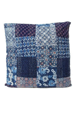 Kantha Cushion Large- Indigo