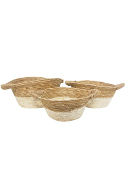 Set of 3 Natural Mayham Woven Baskets