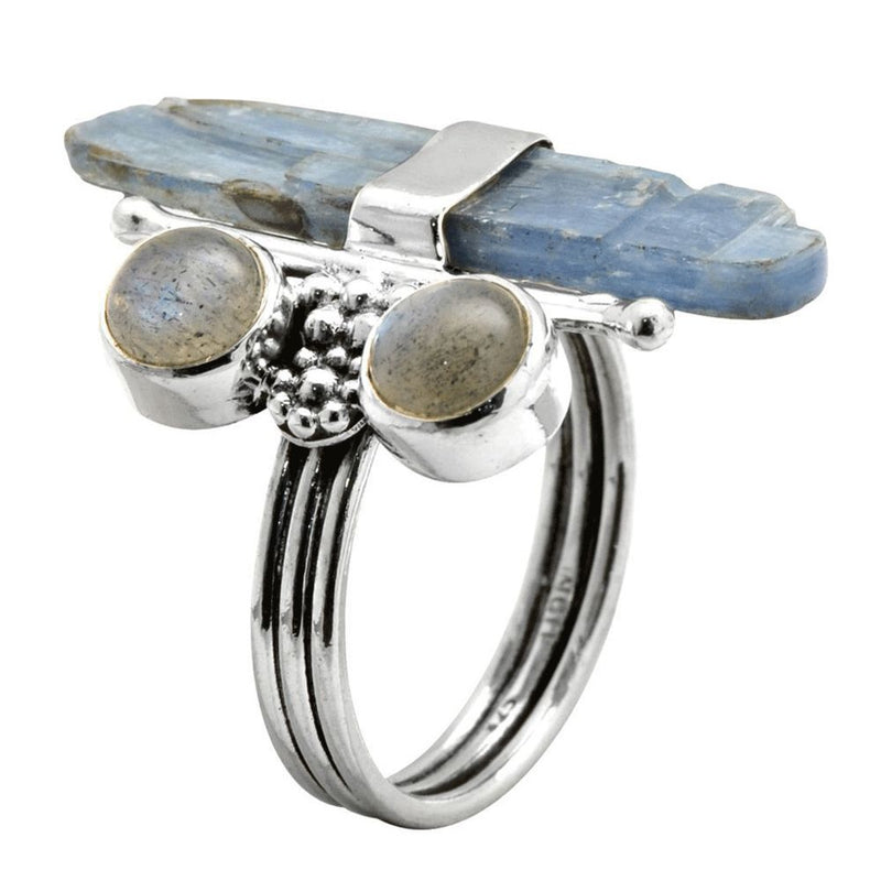 Labradorite & Kyanite Ring