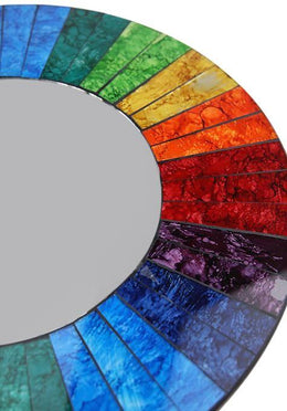 Large Rainbow Mosaic Mirror