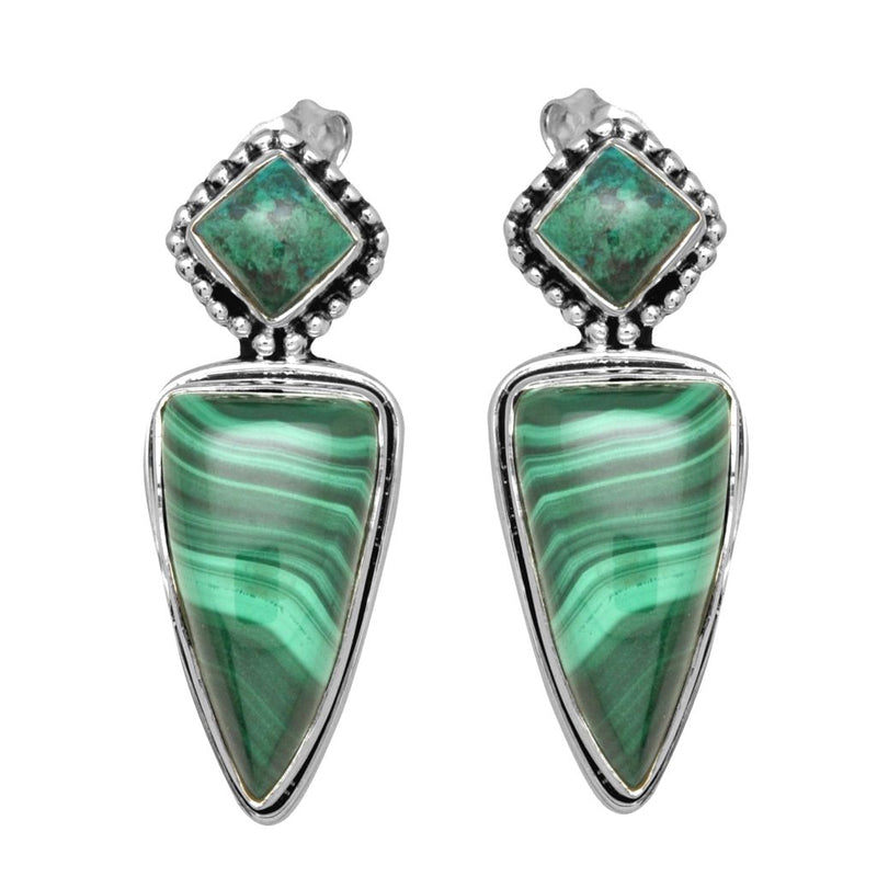 Malachite Stud Earrings