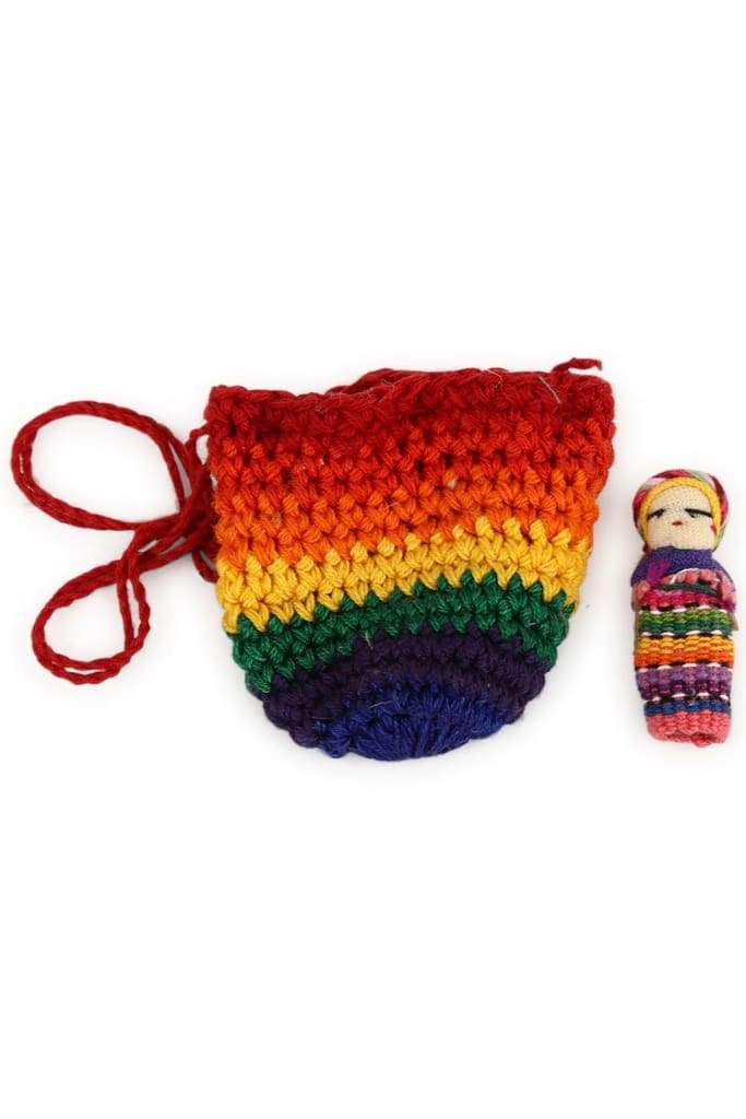Mayan Worry Doll & Crochet Purse