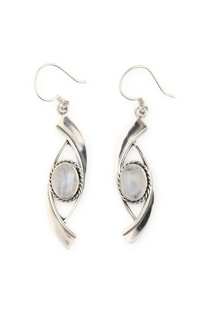 Moonstone Swish Droplet Earrings