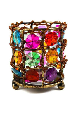 Multi Colour Tea Light Holder