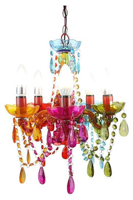 Multi Coloured Chandelier - Small