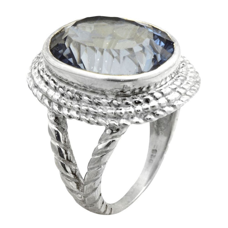 Mystic Quartz Rope Setting Ring