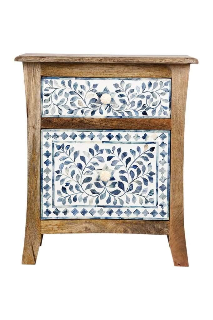 Natural Bone Inlay Bedside Cabinet