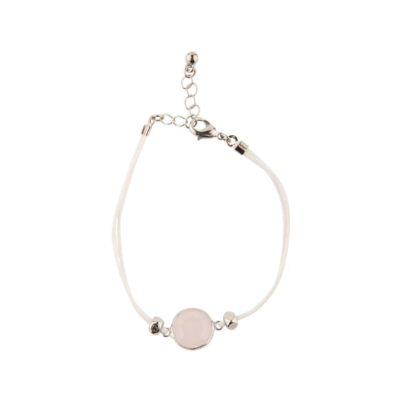 Natural Facet Rose Quartz Bracelet