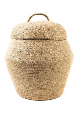 Natural Jute Basket With Lid