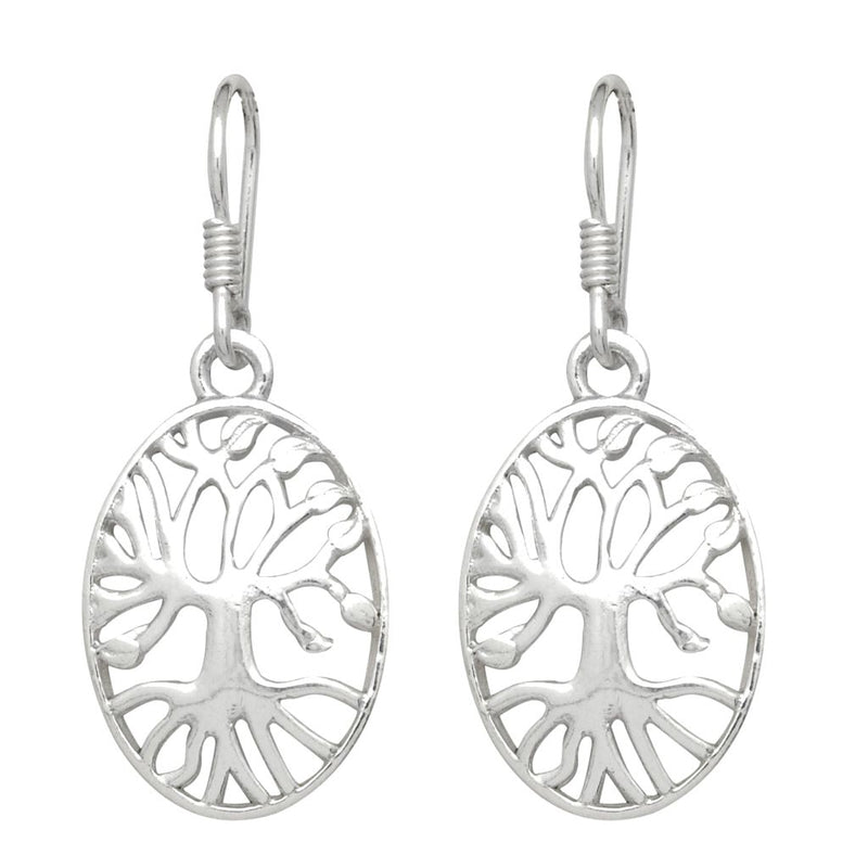 Oval Tree Of Life Earrings