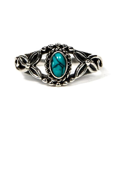 Oxidised Ring With Assorted Oval Stone
