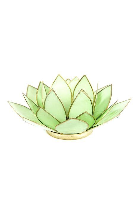Pastel Green Lotus Tealight Holder