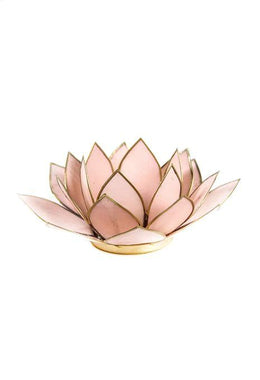 Pastel Pink Lotus Tealight Holder