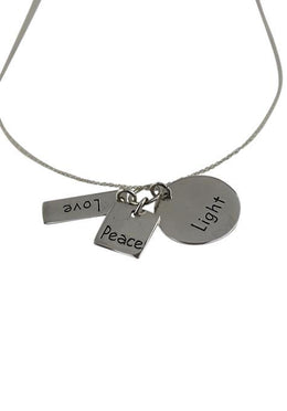 Peace Love Light Necklace