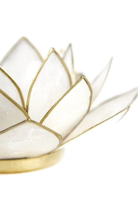 Pearl Lotus Tealight Holder