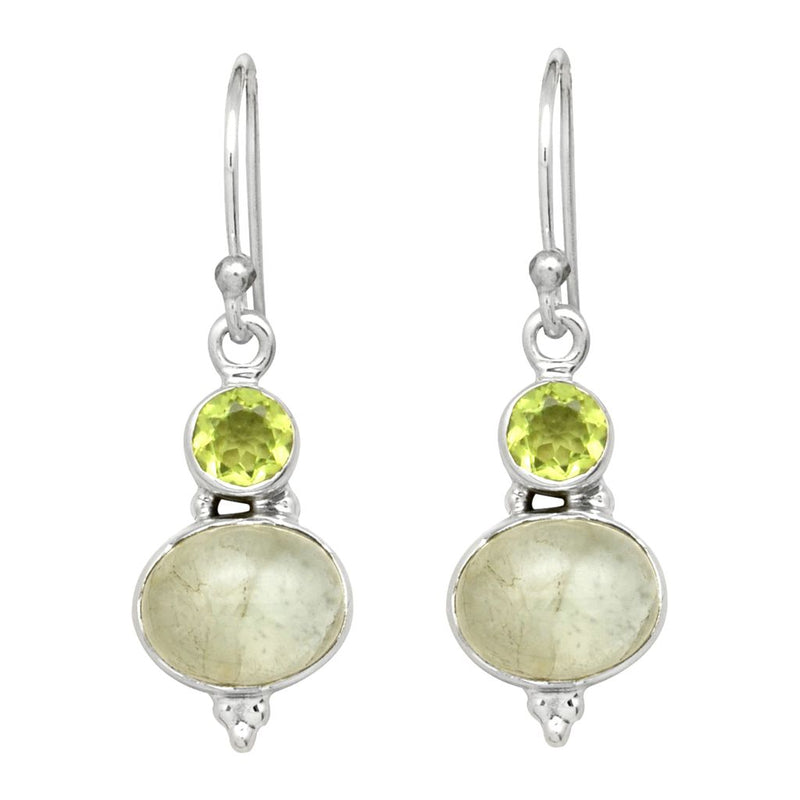 Peridot And Aquamarine Earrings