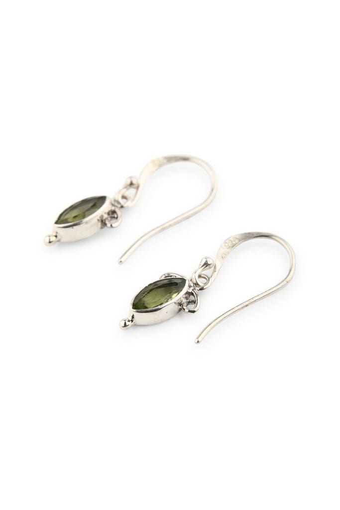 Peridot Marquise Droplet Earrings