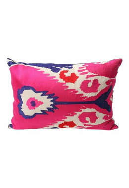 Pink Ikat Cushion